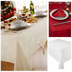 Blizzard Christmas Tablecloth And Napkin Package Set - 4 Stunning Colours