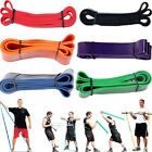 6 SIZE Resistance Bands Loop Crossfit Pilates StrengthTraining Fitness Exercise