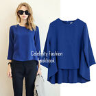 ts67 Ladies Women's Long Sleeve Work Business Office Chiffon Blouse Shirt 14 16