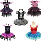 Girls Adorable Cat Girl Witch Mermaid Halloween Party Costume Dress Headband