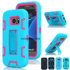 Shockproof Rugged Hybrid Rubber Case Kickstand Cover For Samsung Galaxy S7 edge