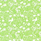 GARDEN SHADOW MEADOW GREEN -100% COTTON FABRIC MICHAEL MILLER BIRDS RABBITS