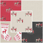 WHEN I MET SANTA'S REINDEER CHRISTMAS FABRIC BY LEWIS & IRENE 100% COTTON SCANDI