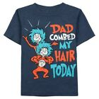 "NWT Dr. Seuss Thing 1 & Thing 2 - ""Dad Combed My Hair Today "" Tee: Boys 3T - 5T"