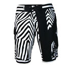 Surf Men Outdoor African Zebra Quick Dry Board Shorts Lace Tie Up Swimming Wear