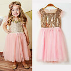 Flower Girls Kids Toddler Baby Princess Party Sequins Wedding Tulle Tutu Dresses