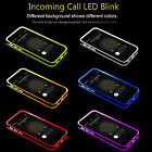 Remind Incoming Call Bright Night LED Light Cover Case For iPhone 5 SE 6 6s Plus