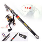 Telescopic Spinning Rod Sea Fishing Pole Fishing Travel Carbon Fiber NEW OT Q5V1