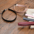 Vintage Leather Choker Necklace Collar Necklace Jewellery Pure Colour Gothic