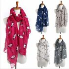Lady Women Soft Scarf Pashmina Shawl Wrap Print Penguin Animal Stole Neck Warm