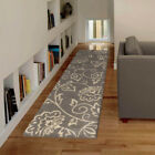 Gray Leaves Petals Swirls Vines Contemporary Area Rug Floral 2402