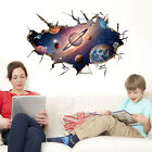 3D Galaxy Space Astronaut Planet Wall Stickers Decals for Kid's Room Home Decor