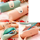 Superior PU Leather Zipper Pencil Pen Cosmetic Pouch Pocket Purse Makeup Bag New