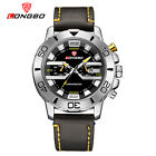 LONGBO Mens Sports Leather Quartz Analog Calendar Waterproof Wrist Watches 80189