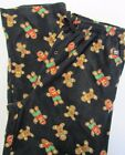 NWT Heat Holders Sleepwear Pajama Bottoms Novelty Gingerbread Man Gingy Sz L XL
