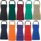 Premier Plain Colour 2 in 1 Short Bib Apron