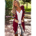 Fashion Women's Stitching Print Knit Cardigan Casual Sweater Open Striped Shirt