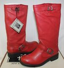 Small Frye Girls Veronica Slouch boots burnt red leather NEW WITH BOX