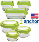 Anchor Hocking TrueSeal Glass Round and Square Storage Jars Containers With Lid