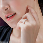 GIFT Unisex Clear Cubic Zirconia Ring Engagement Couple Wedding Rings