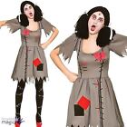 Adults Ladies Freaky Voodoo Haunted Evil Doll Dolly Fancy Dress Costume Outfit
