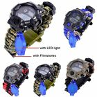 Multifunctional Waterproof LED Compass  Survival Digital Mens  Wristwatches