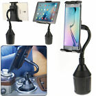 Car Mount Cup Holder Rotating for Phone Tab iPad Mini Air Tab A S 7-10 in Tablet