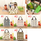 Portable Tote Thermal Insulated Lunch Box Bag Cooler Picnic Pouch Bento