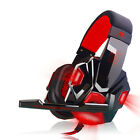 USB 3.5mm LED Game Headset Surround Stereo Headband Headphone With Mic For PC
