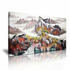 CHINESE ART Landscape Mountains Canvas Framed Print ~ More Size