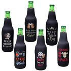 Avery Barn Funny Quotes Neoprene Insulated Zipper Beer Bottle Sleeve Cover Sets