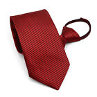 10cm Fashion Accessories Formal Business Men Tie Stripe Lazy Zip Necktie