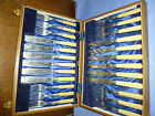 VINTAGE  CUTLERY. 12 PLACE SILVER PLATED SERVICE OAK CANTEEN OF CUTLERY J B