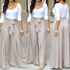 GIFT Women fashion High Waist Flare Wide Leg Long vintage Pants Palazzo Trousers
