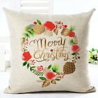 Christmas Style Cotton Linen Sofa Waist Cushion Cover Pillow Case Cover Gift Hot