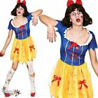 Snow White Zombie Ladies Fancy Dress Halloween Fairytale Horror Adults Costume