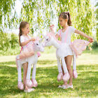 Girls Ride On Unicorn Childrens Animal Fancy Dress Kids Magical Pony Costume