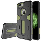 For iPhone 8 7 Plus Tough Shockproof Armor Case +Tempered Glass Screen Protector