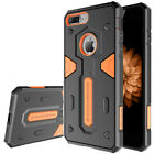 For iPhone 8 7 Plus Shockproof Armor Phone Case +Tempered Glass Screen Protector