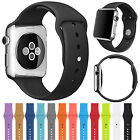 Silicone Bracelet Band Replacement Strap For Apple Watch iWatch 38 42MM M/L S/M