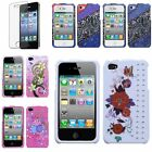 Colorful Patterns Hard Case Snap-On Cover Skin For Apple iPhone 4 4s+LCD Guard