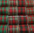 Gisela Graham ~ Wired Edge Ribbon 63mm ~ Tartan ~ Christmas & Weddings