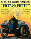 POSTER CAR PIC-PIC SWISS AUTOMOBILE BY PICCARD PICTET VINTAGE REPRO FREE S/H