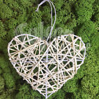10cm WHITE RATTAN WIRE HEARTS - VALENTINE CHRISTMAS TREE CRAFT WREATH FLORIST