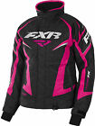 FXR Womens Black Heather/Fuchsia Team Snowmobile Jacket Insulated Snocross