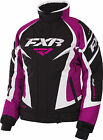 FXR Womens Black/Fuchsia/White Team Snowmobile Jacket Insulated Snocross
