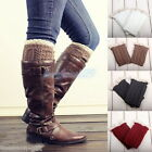 HX Ladies Girls Winter Leg Leggings Warmers Lace Crochet Knit Boot Covers Socks
