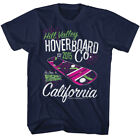 Back to the Future Hill Valley Hoverboard Company Navy Adult T-shirt
