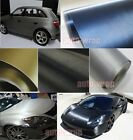 Optional - New Car Metallic Matte Brushed ALUMINUM Vinyl Wrap Sticker Film ABC