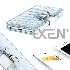 2 Pack Luxury Bling Bowknot Crystal Diamond Wallet Flip Case Cover For iPhone